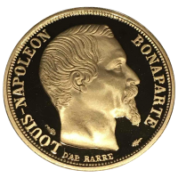 Gold coin - Louis-Napoléon Bonaparte, France, 20 francs, 6.45 g, 900, 1991